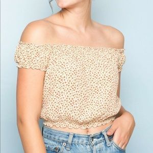 Brandy Melville yellow floral top
